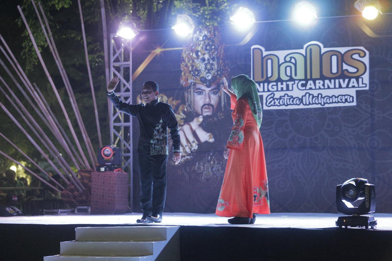 BALOS NIGHT CARNIVAL EXOTICA MAHAMERU  MERUPAKAN EVENT BATIK KHAS LUMAJANG